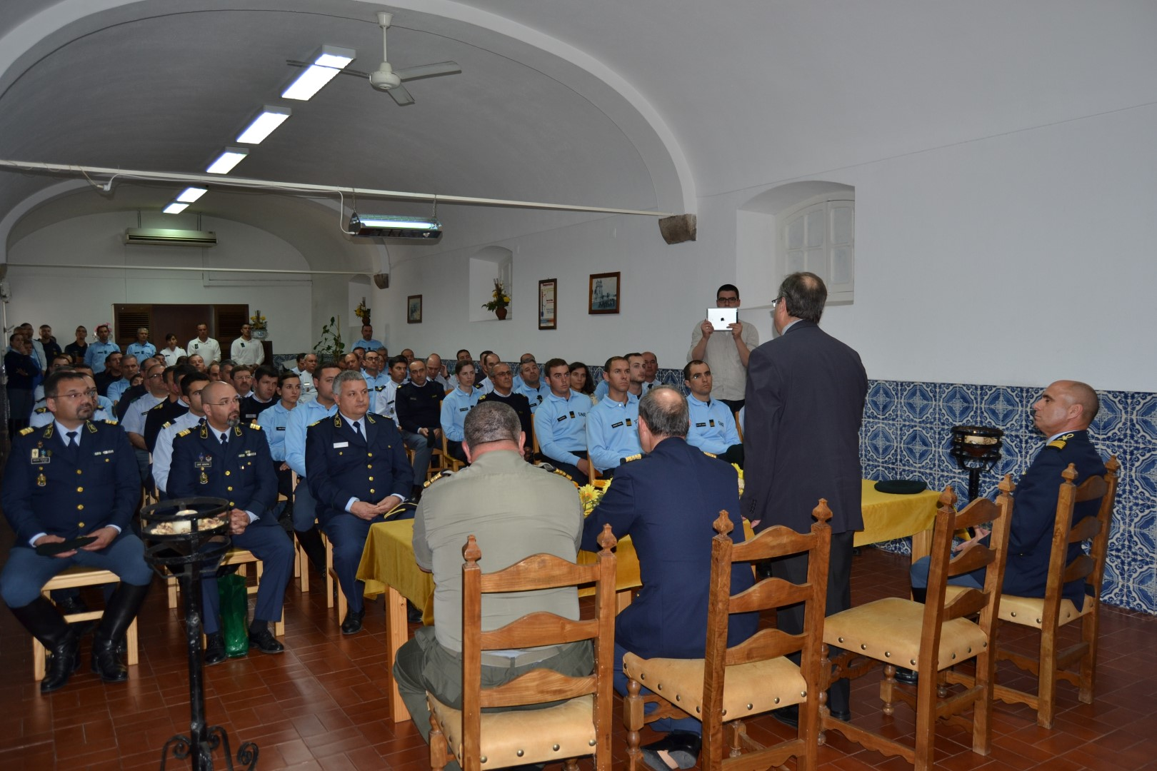 GNR_Visita Pastoral de Dom Manuel Linda ao Comando Territorial de evora