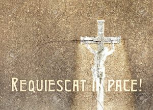 """Rest in peace or """"Requiescat in pace"""" in latin."""